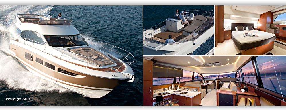 See The Prestige 350 390s Et 500 At The London Boat Show