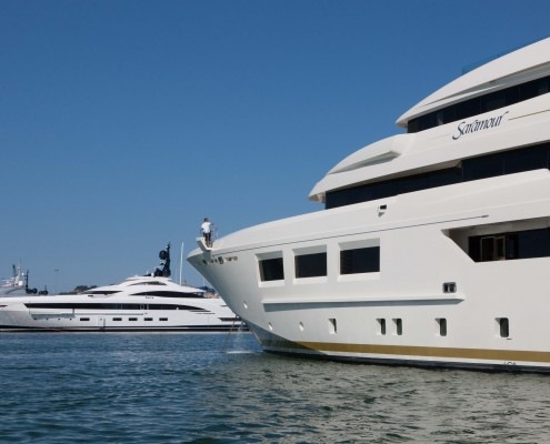 CRN Saramour 61 m and CRN Yalla 73 m at Monaco Yacht Show